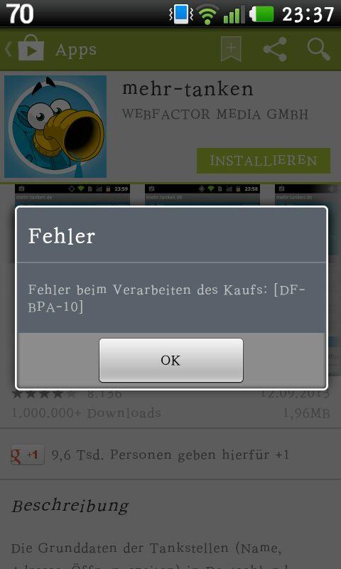 Google Play Store: Server Problem DF-BPA-10  RPC:S-5:AEC-O – Das hilft euch!
