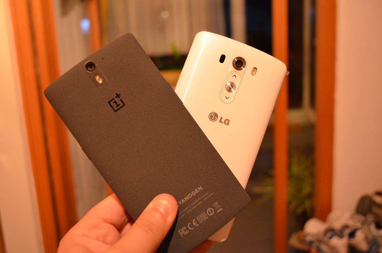 OnePlus One und LG G3 im Größenvergleich – Die aktuell besten Geräte Seite an Seite