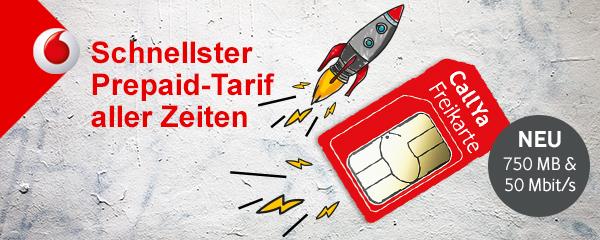Vodafone mit neuen Prepaid-Tarifen: 1GB und Allnet für 22,50 Euro oder 750 MB und 200 Min für 10 Euro