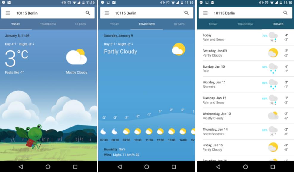 Google Now: Wetter-Vorschau wird deutlich schicker