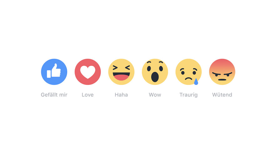 Facebook Reactions: Neue Emoji-Reaktionen lösen Like Button ab