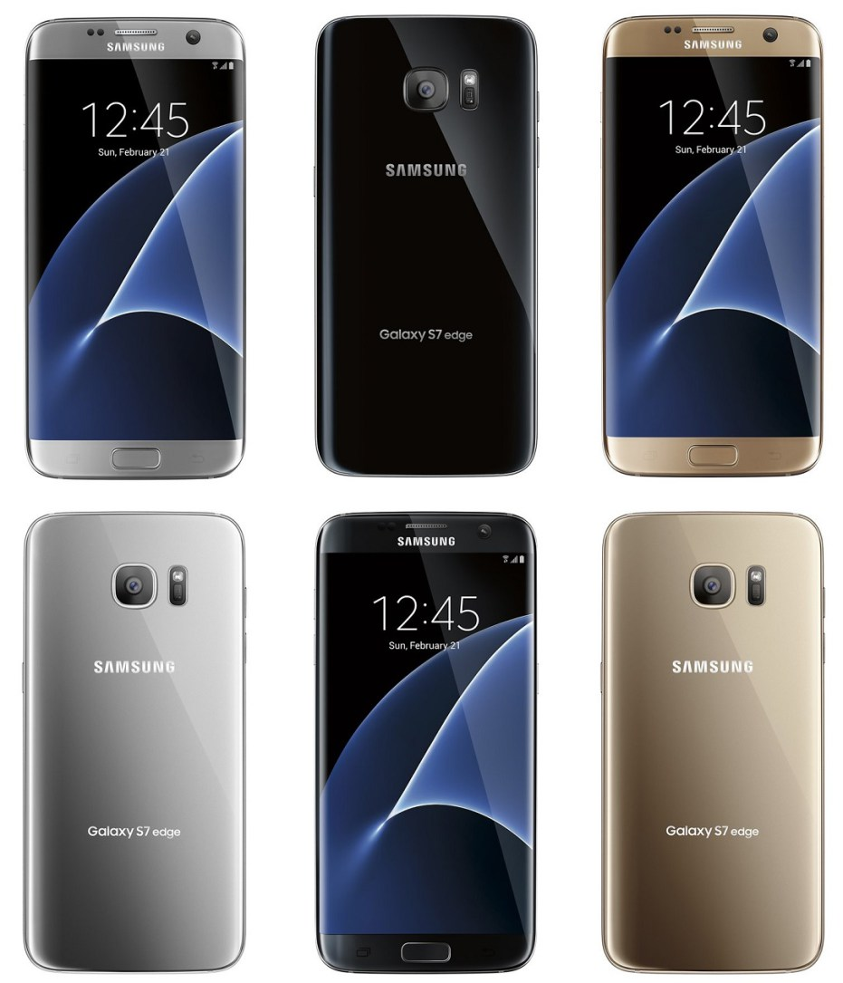 Samsung Galaxy S7: Neue Bilder mit allen Farben geleakt – Edge-Wölbung auch auf Rückseite