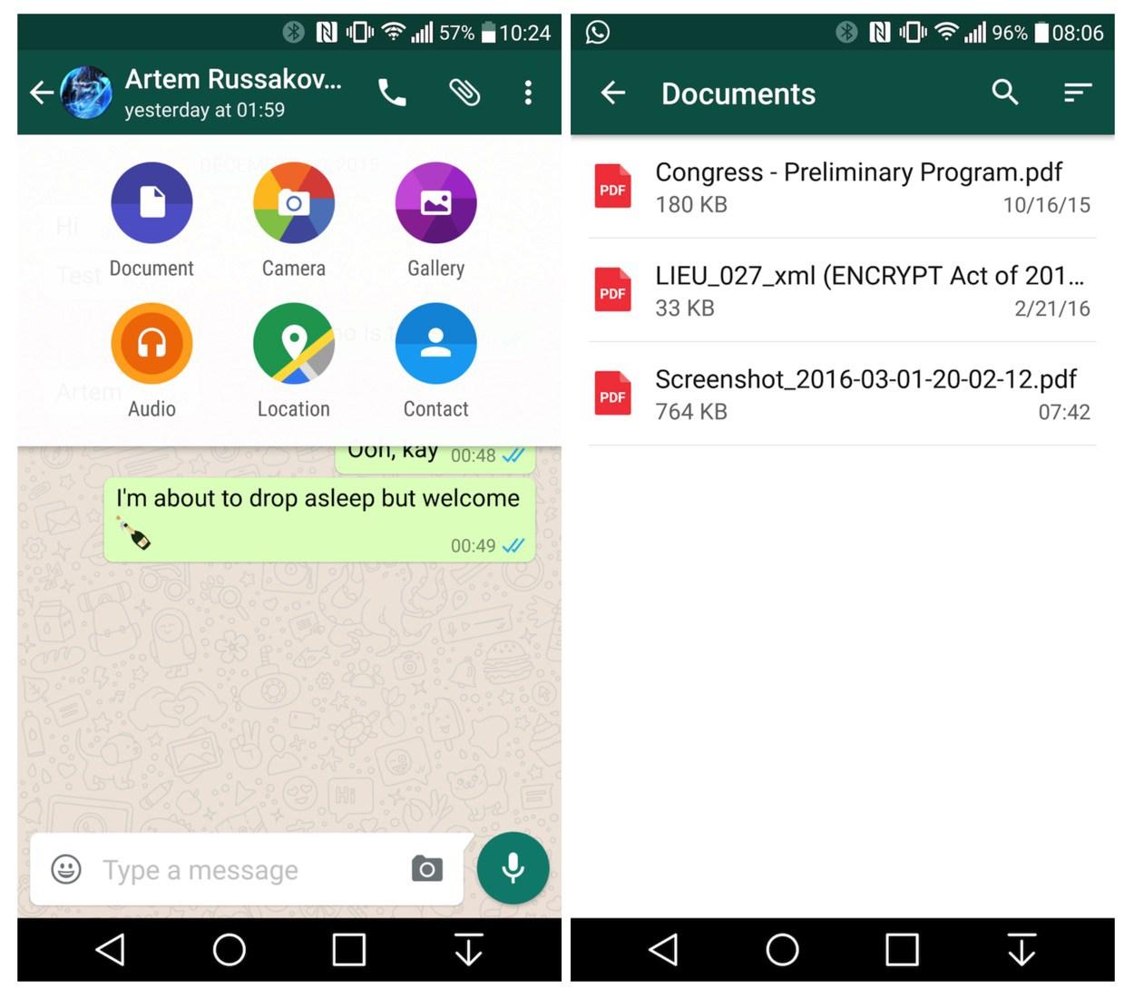 WhatsApp: Versand von PDF Dokumenten ist nun möglich