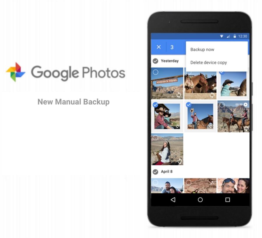 Google Fotos erlaubt nun manuelle Backups ausgewählter Fotos und Videos