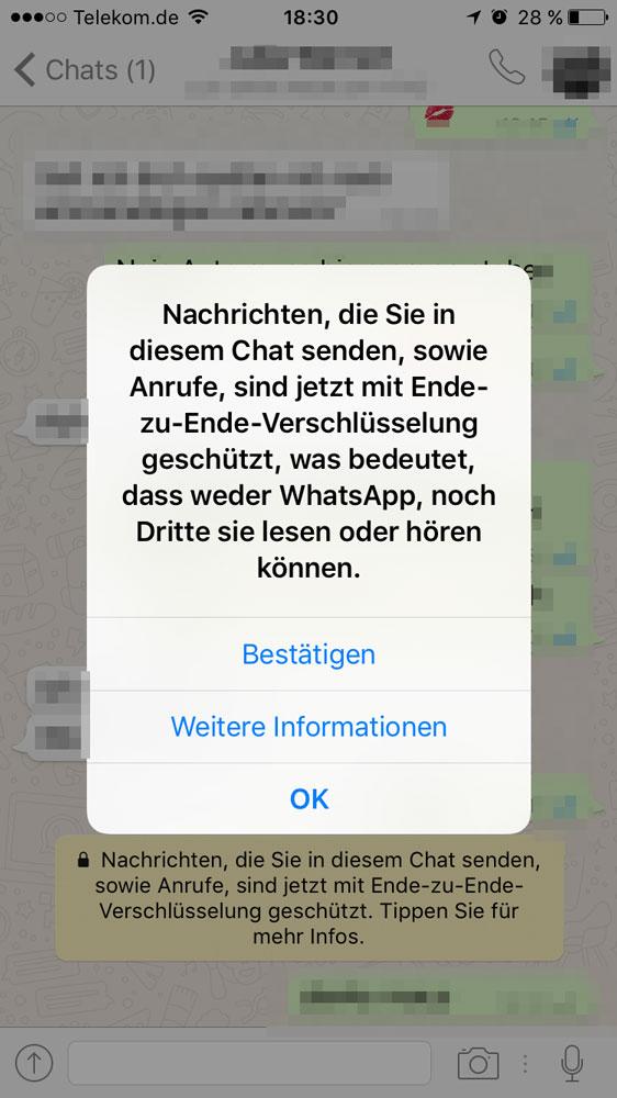 Whatsapp ende zu ende verschluesselung 1