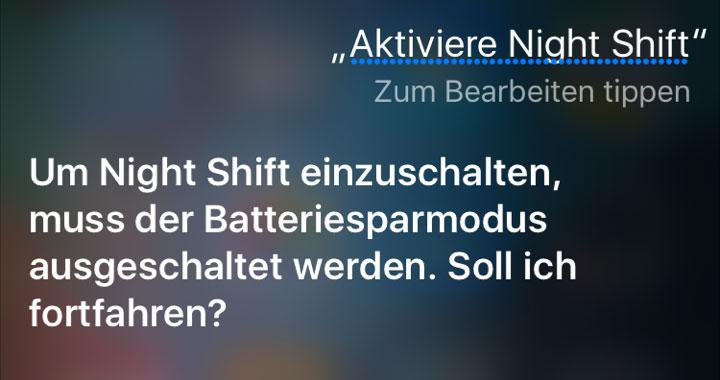 iOS 9.3.1: Workaround für Stromsparmodus und Night Shift gleichzeitig