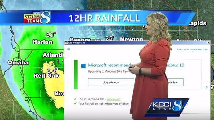 Wettervorhersage wird durch nervige Windows 10 Update-Meldung gestört