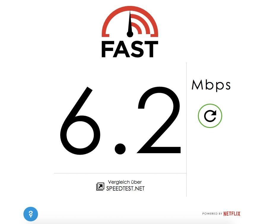 Netflix veröffentlicht Speedtest von eigenen Servern – fast.com
