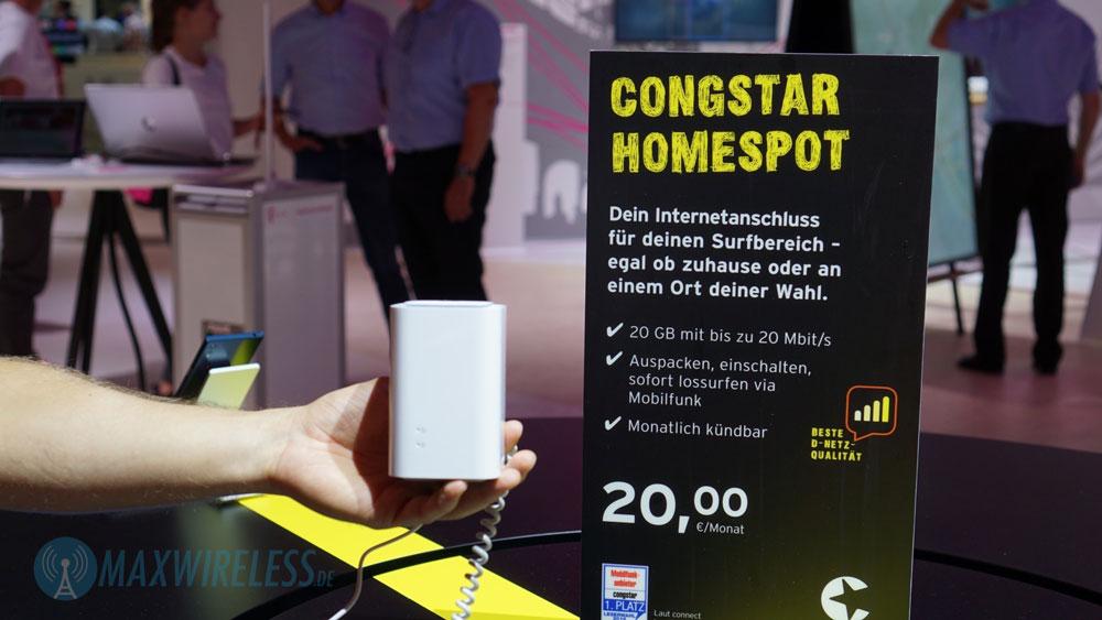 Congstar Homespot: 20 GB LTE für 20 Euro mit einem kleinem Haken