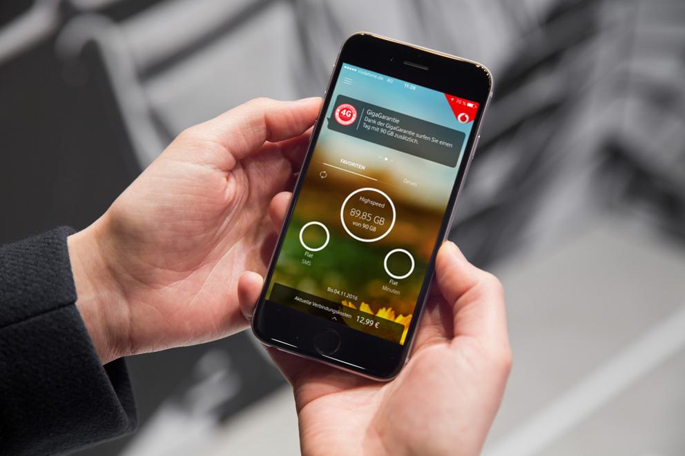 Vodafone GigaGarantie: 90 GB Datenvolumen bei Unzufriedenheit