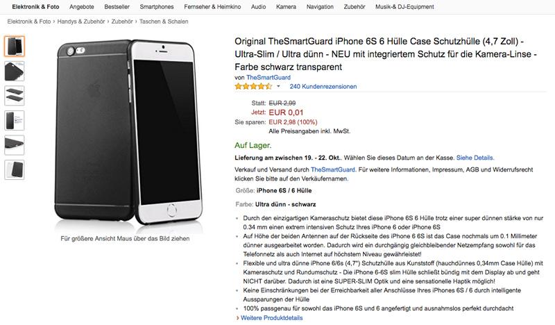 Für nur 1 Cent: iPhone 6 Hüllen auf Amazon