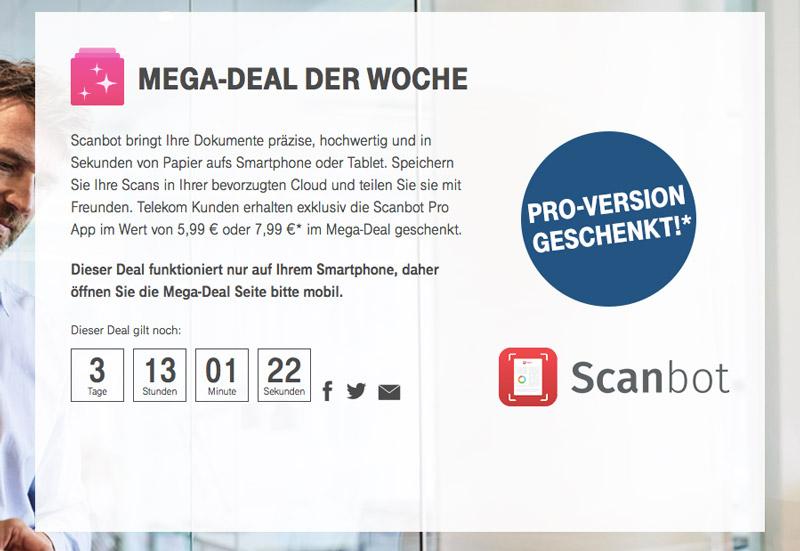 Telekom Mega Deal: Scanbot Pro – DIE Scanner-App kostenlos