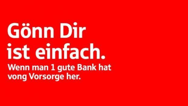 Sparkasse - Gönn dir ist einfach wenn man 1 gute Bank hat vong Vorsorge her