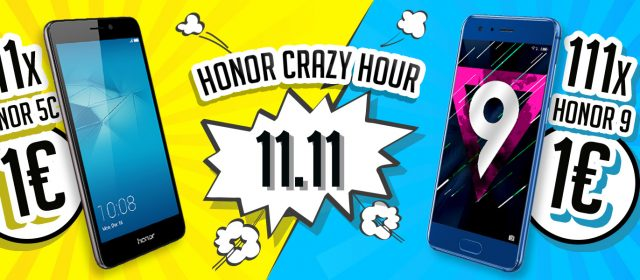 Honor Single Day: 111x Honor 9 und 111x Honor 5C für jeweils 1 Euro