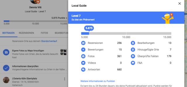 Google Maps Local Guides: Doppelte Punkte für Bewertungen, vierfache Punkte für ausführliche Rezensionen