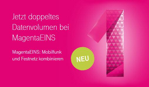 Telekom: Doppeltes Datenvolumen für MagentaEins Kunden