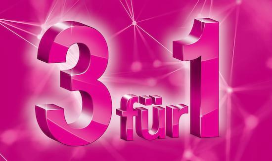 """Telekom Prepaid """"3 für 1"""" – MagentaMobil Start L und XL 2 Monate kostenlos nutzen"""